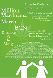Million Marihuana March bcn 2015 MCC